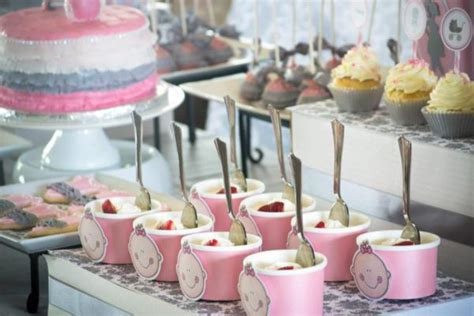 Pink And Gray Baby Shower Table Decorations by Kara S Ideas Pink Gray Princess Themed Baby