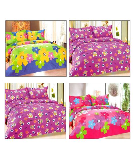pretty bed sheets fablinen pretty floral double bed sheets combo 12 pcs