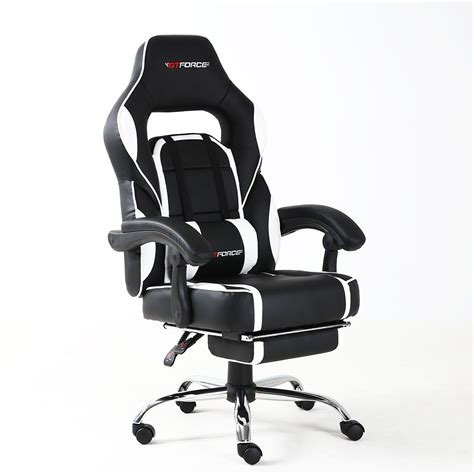 Footstool For Office Desk Gtforce Pace Reclining Leather Sports Racing Office Desk Chair Gaming Footstool Ebay