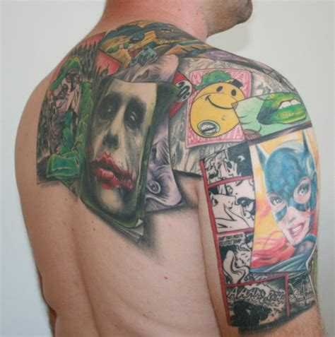 collage tattoo designs fanboy batman collage randommization