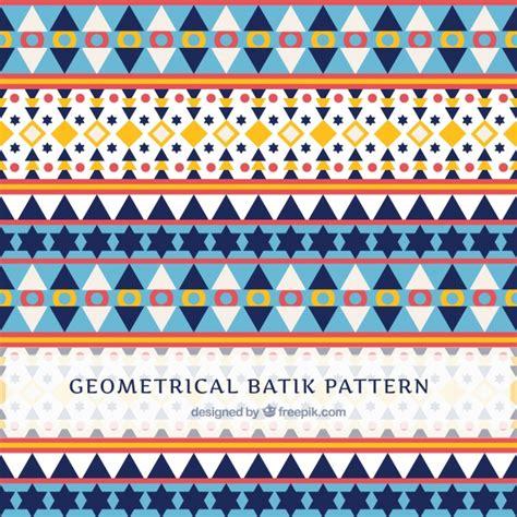 batik pattern illustrator free pattern in batik style with geometric shapes vector free