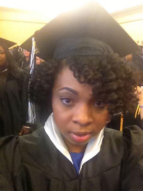 Natural hair under cap for my graduation   Natural Hair