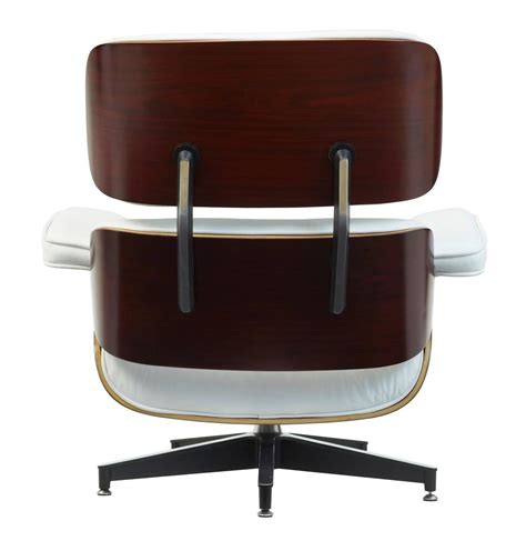 eames lounge chair white leather eames white leather lounge chair and ottoman at 1stdibs