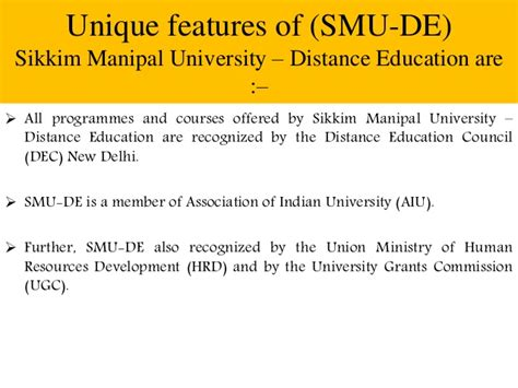 Sikkim Manipal Mba Syllabus by Smu Distance Learning Mba Course