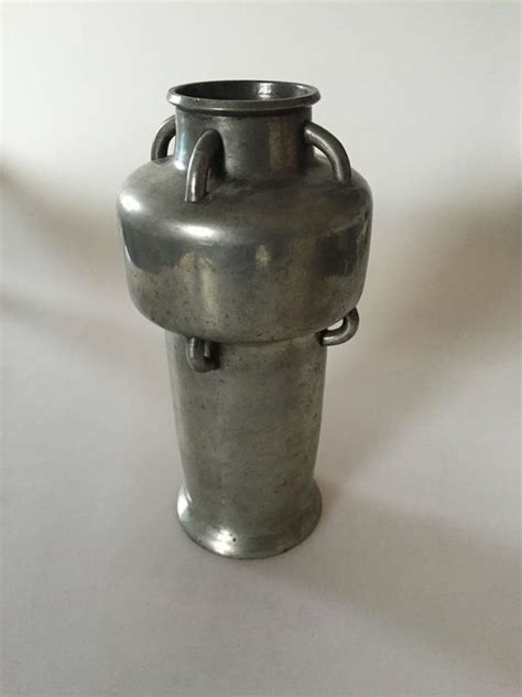 Tin Vase by Mogens Ballin Tin Vase With Handles For Sale At