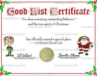 santa claus certificate template free are you on santa s list or list