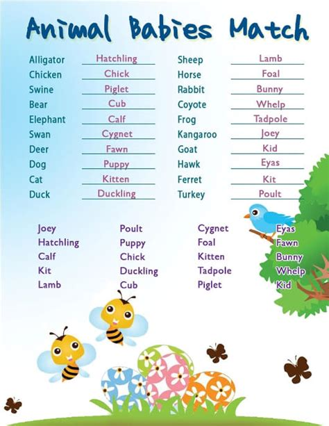 Name The Baby Animal Baby Shower by Baby Shower Baby Animal Baby Shower Ideas