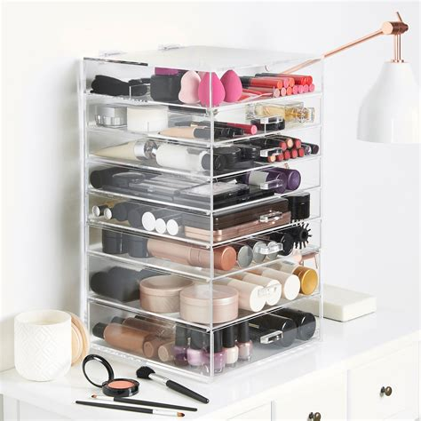acrylic makeup organizer tipe ndx beautify large acrylic cosmetic makeup jewelry