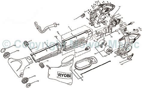 ryobi blower parts diagram ryobi rbv2400vp blower spares
