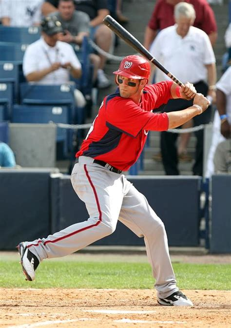 harper swing nationals phenom bryce harper has promising debut