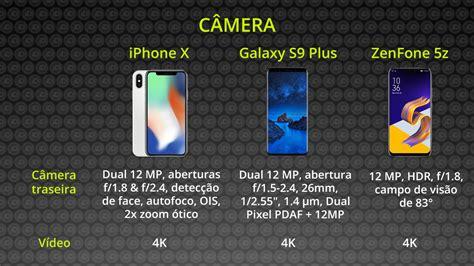 I Phone Samsung Asus Zenfone iphone x o samsung s9 plus e o zenfone 5z qual vale mais