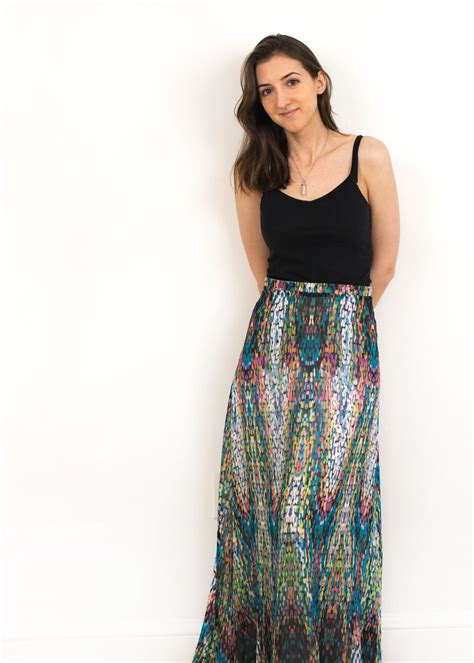 shabby apple review try on maxi mosaic skirt jessoshii
