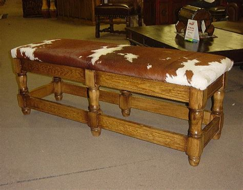 western style benches 43 best images about cow hide on pinterest western