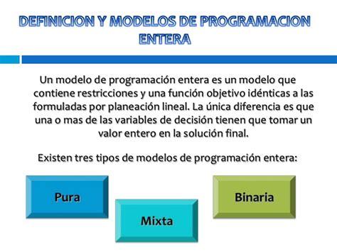 Definicion De Modelo Curricular Lineal Modelos De Programacion Entera