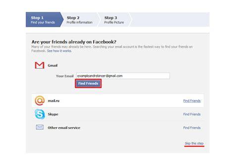 cara membuat facebook jadi diikuti cara membuat facebook panduan dengan screenshots daftar
