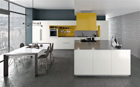 Attrayant Plan De Travail Pour Cuisine Blanche #3: Cuisine-Armony-Yota-laqué-blanc-et-jaune-2.jpg