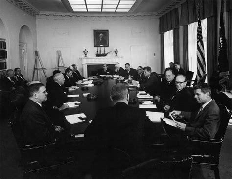 Ar7550 C President John F Kennedy Holds Cabinet Meeting