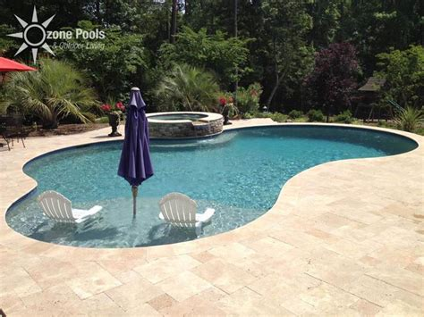freeform pool freeform pool spa travertine decking pool outdoor