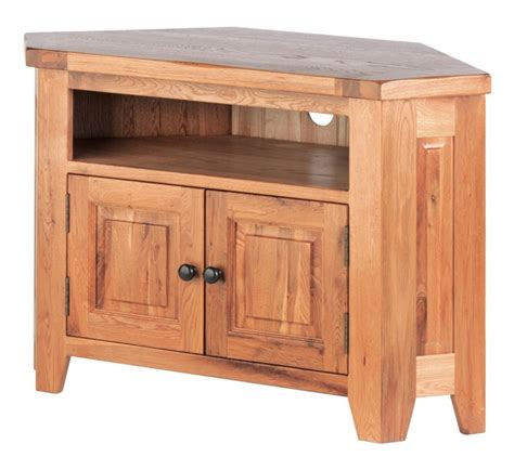 Corner Cabinet Tv by Richmond Oak Corner Tv Cabinet Oak Furniture Solutions