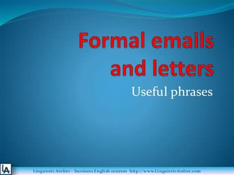 business letters slideshare business letters emails