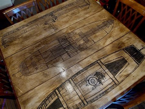 how to make an aged paper decoupage tabletop