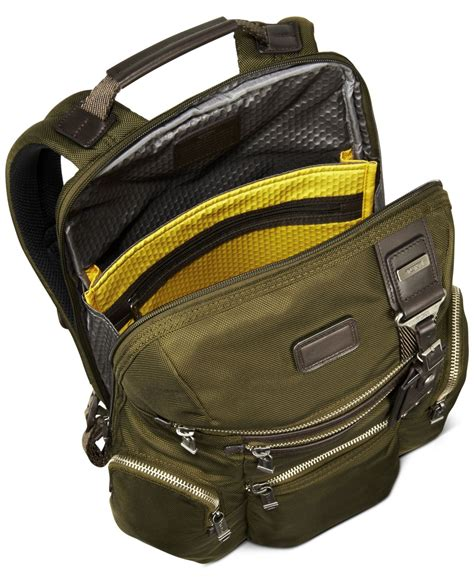 Tumi Backpacker 1 tumi alpha bravo backpack in green for lyst