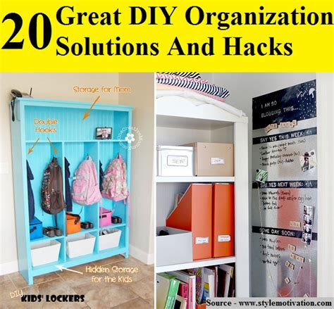organization solutions 20 great diy organization solutions and hacks home and