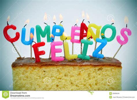 buon compleanno in spagnolo buon compleanno scritto nello spagnolo immagini stock
