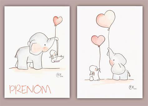 dessin chambre d enfant dessins aquarelles 233 l 233 phant et lapin sur feuilles a4
