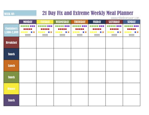 printable meal plan for 21 day fix 21 day fix calendar printable bing