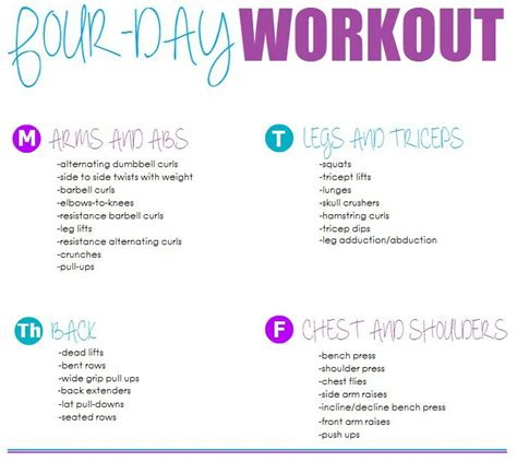 25 best ideas about weekly workout routines on pinterest 25 best ideas about workout routines for women on