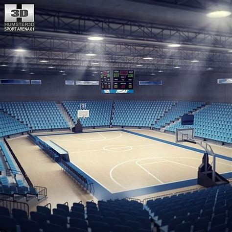 basketball arena 3d model basketball arena vr ar low poly max obj 3ds