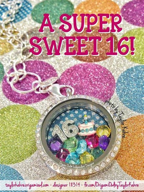 Origami Owl Birthday Locket - sweet 16 gift idea