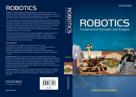 towards a robotic architecture books ashitava ghosal home page