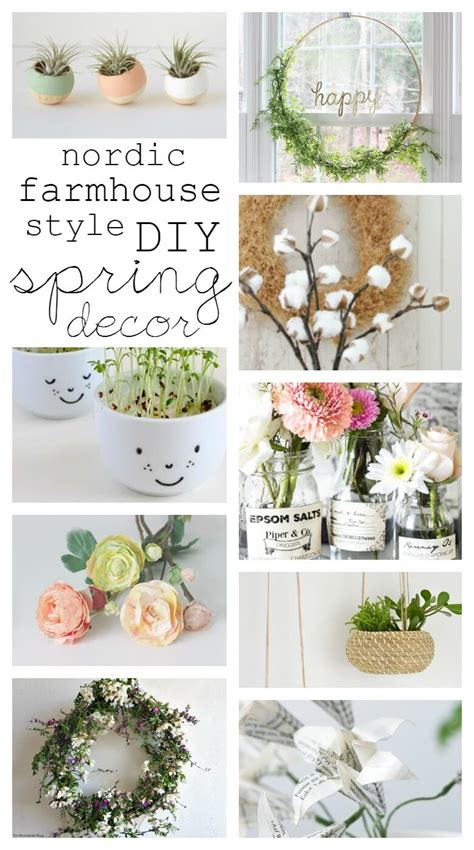 spring diy nordic farmhouse style diy spring decor kreativk