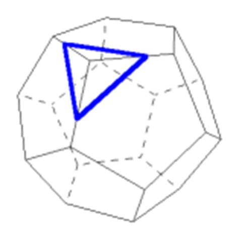 cross sectional area of hexagon the dodecahedron