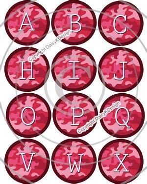 pink camo alphabetbottle cap images  bottle cap
