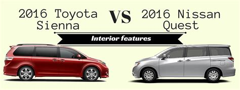 minivan nissan quest interior 2016 toyota vs 2016 nissan quest interior