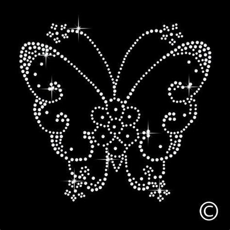 Butterfly Rhinestone Diamante Motif T Shirt Transfer Iron On Hotfix Gem Http Www Amazon Co Uk Hotfix Rhinestone Templates