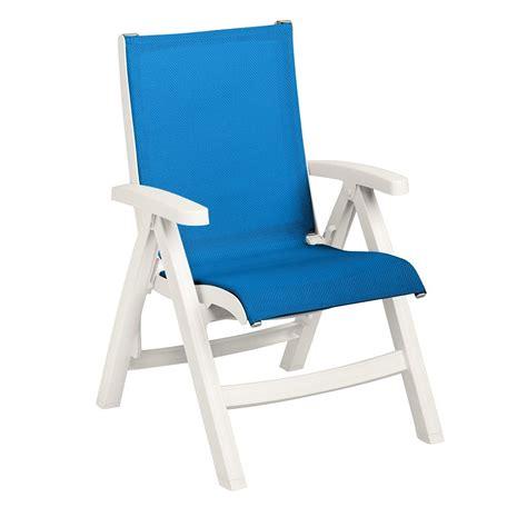 Blue Sling Patio Chair Grosfillex 2ea Belize Midback Folding Patio Blue Sling Chair