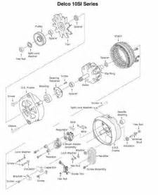 delcoremy 10si alternator exploded view parts breakdown
