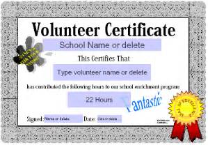 Volunteer Certificate Templates For Word by Certificates For Teachers Honor Roll Awards And
