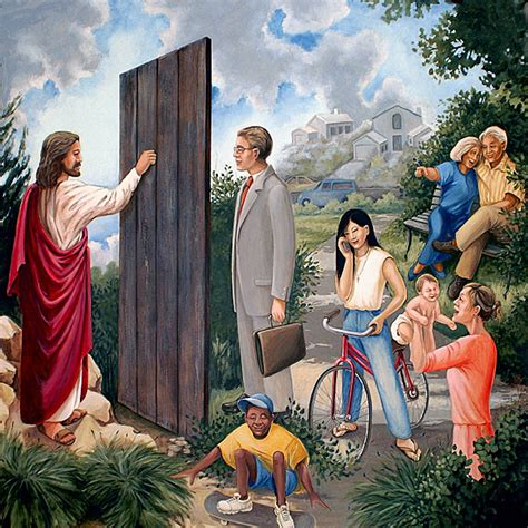 Knock At The Door by Knocking At The Door Mural At Mount Tabor United Methodist