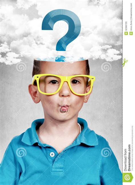 Or Question For A Boy Whiz Boy Stock Image Image Of Clever Decision Portrait 32390733