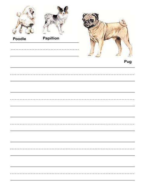 printable writing paper with dogs pin source httpwwwartistshelpingchildrenorg on pinterest