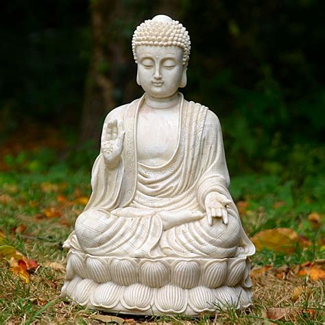 Buddha Garden Statue by Sitting Medium Thai Buddha Garden Statue Ornament