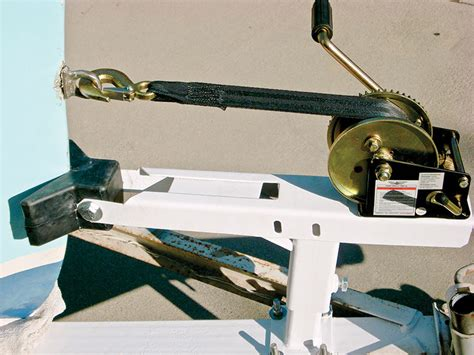 diy boat trailer winch post installing a winch stand boating world