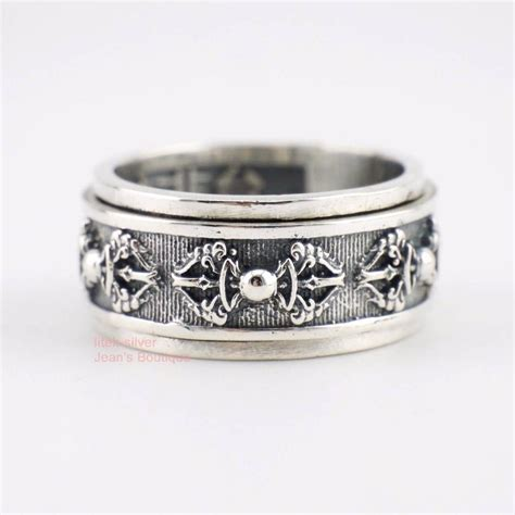 mens spinner wedding bands