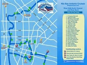 map sa river cruise downtown san antonio