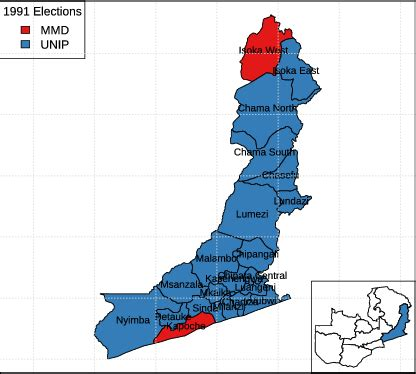 mapping historical regional voting patterns  zambia